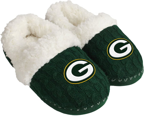 Green Bay Packers Women's Team Color Moccasin Slipper, Small (5/6)