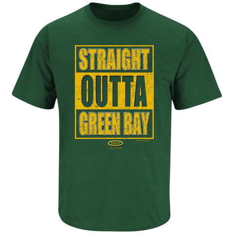 Green Bay Packers Straight Outta Green Bay Men's Green Shirt