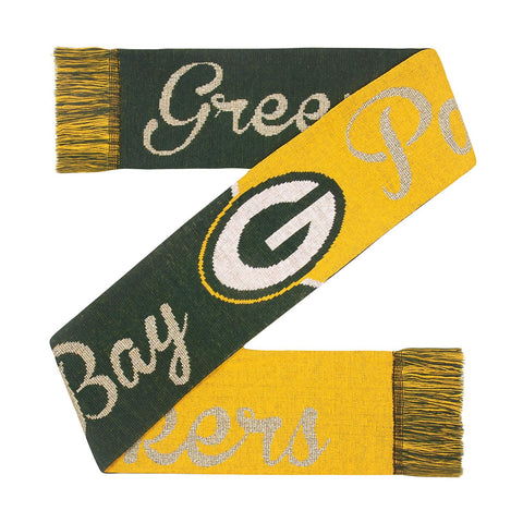 Green Bay Packers Glitter Script Scarf