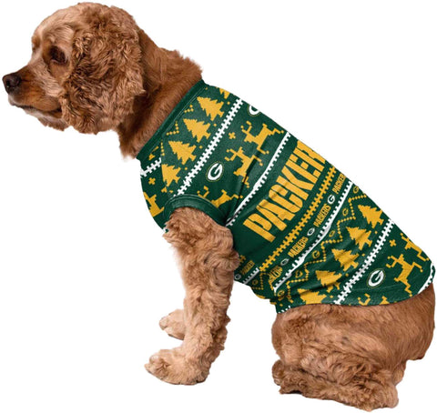 Green Bay Packers Dog Family Holiday Sweater