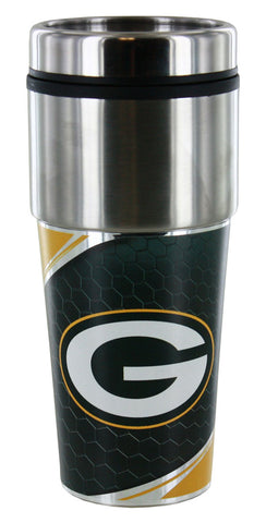 Green Bay Packers 16oz 360 Metallic Wrap Travel Tumbler