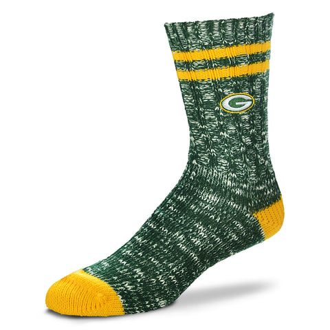Green Bay Packers Alpine Crew Socks, Large
