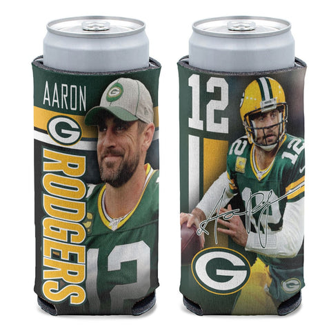 Green Bay Packers Aaron Rodgers 12oz Slim Can Cooler