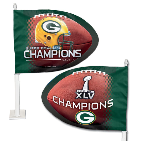 Green Bay Packers Super Bowl XLV Champions Car Flag