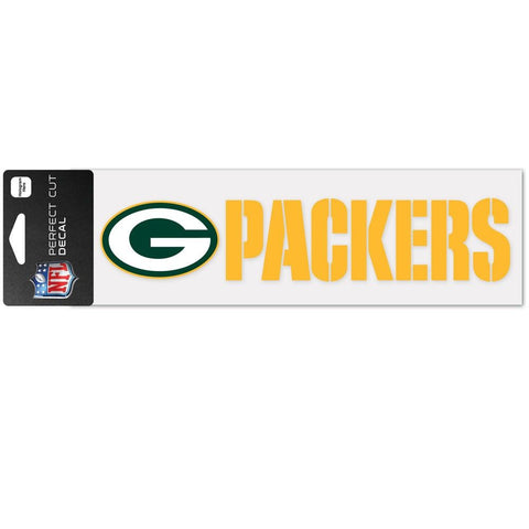 "Green Bay Packers 3 x 10"" Perfect Cut Decal"""
