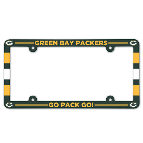 Green Bay Packers Go Pack Go Full Color License Plate Frame