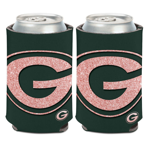 Green Bay Packers Logo 12oz Can Cooler, Rose