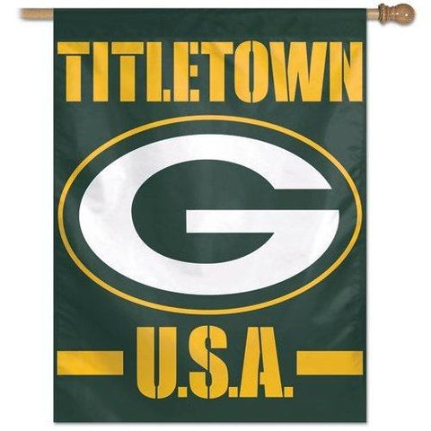 Green Bay Packers Titletown Vertical Flag 27x37 Banner