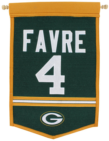 Green Bay Packers Brett Favre #4 Traditions Banner