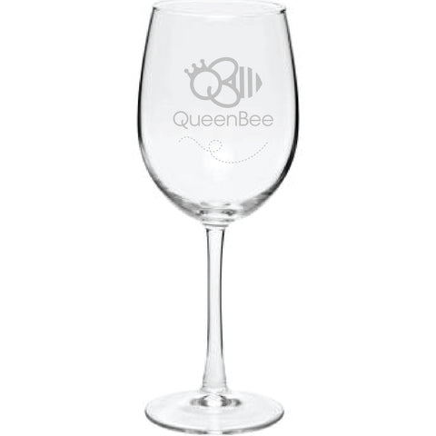 19 oz. ARC Cachet White Custom Etched Wine Glasses | AG1351