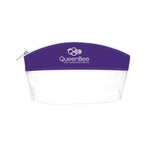 QB COSMETIC BAG - CLEAR/PURPLE