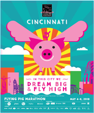 2018 Flying Pig Marathon Poster