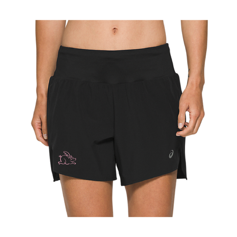 "ASICS W FIESTRO 7"" SHORT - BLACK"