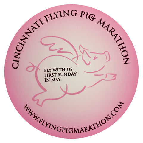 Flying Pig Marathon Static Cling - Pink