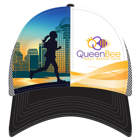 QB CITY SCAPE TRUCKER HAT - BLACK
