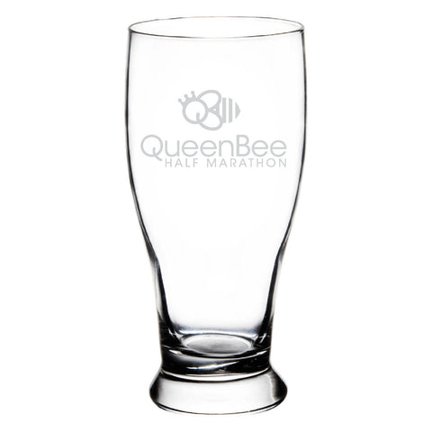 Queen Bee Pub Glass - Clear