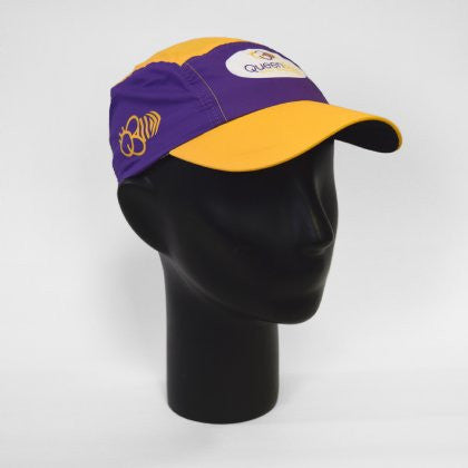Headsweats Queen Bee Race Hat - Purple / Yellow