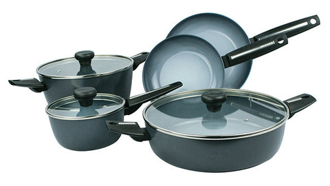12398W - Azul Gres Finegres 8 Piece Cookware Set