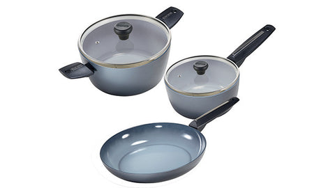 2390005W Azul Gres 5 Piece Cookware Set Moneta