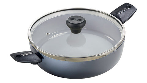 2390224L Azul Gres Ceramic Coated 3 Quart Sauté Casserole with Lid Moneta