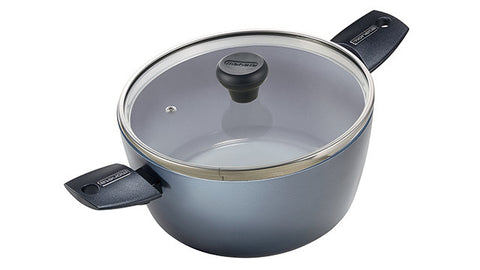 2390724L Azul Gres Ceramic Coated 4.75 Quart Dutch Oven with Lid Moneta
