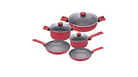 8570008W IUNO Riviera 8 Piece Cookware Set Moneta