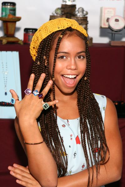 Lexi Butler Designs Crystal Shank Button Rings As Seen On Asia Monet Ray