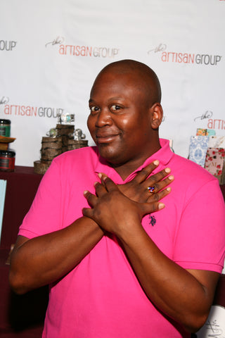 As seen on TV Celebrity Tituss Burgess wearing Lexi Butler Designs Shank Button Ring