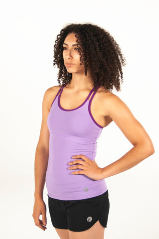 Linden Tank - Lilac/Mulberry