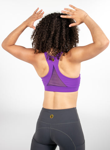 Maple Sports Bra - Grape