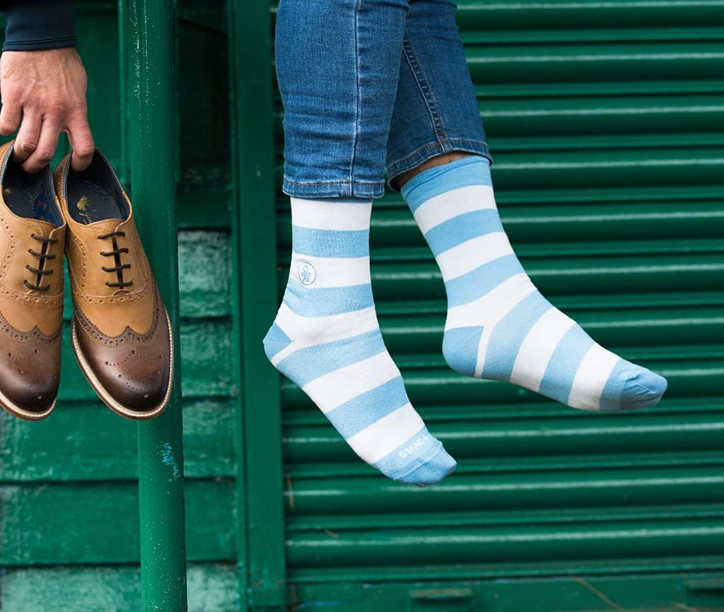 Paris Baby Blues Socks - Bamboo (wholesale)