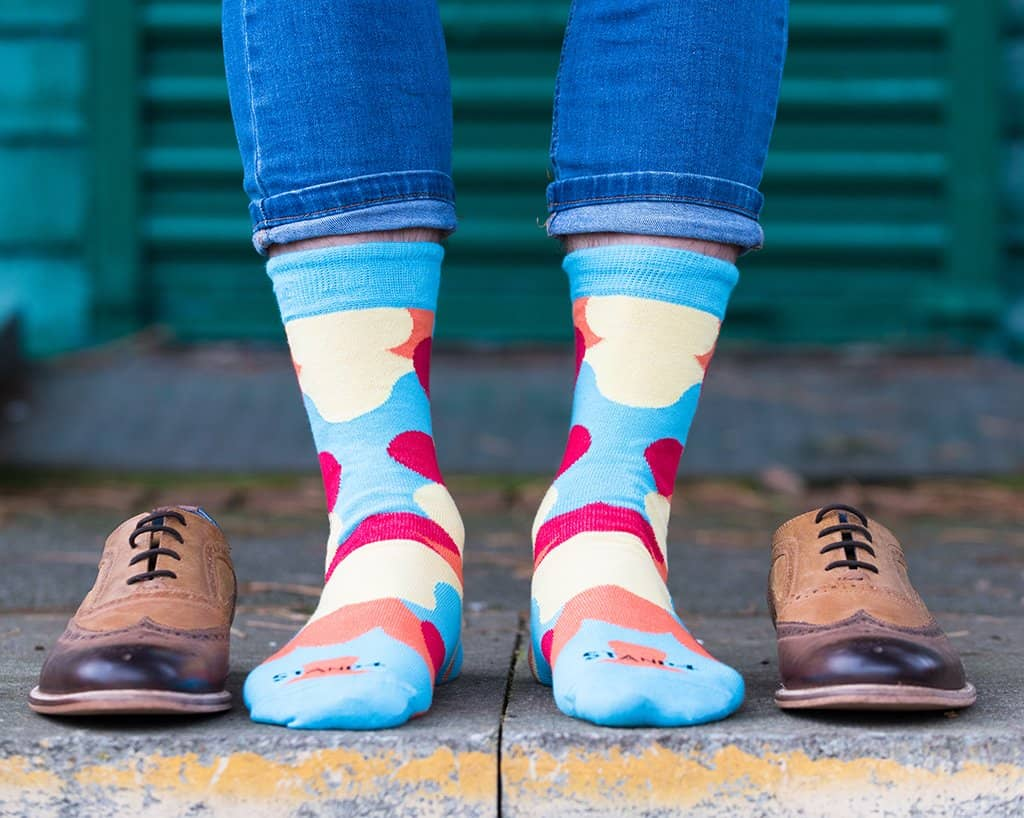Homeless Bubble Pop Blue Sock + Arch Support (wholesale)