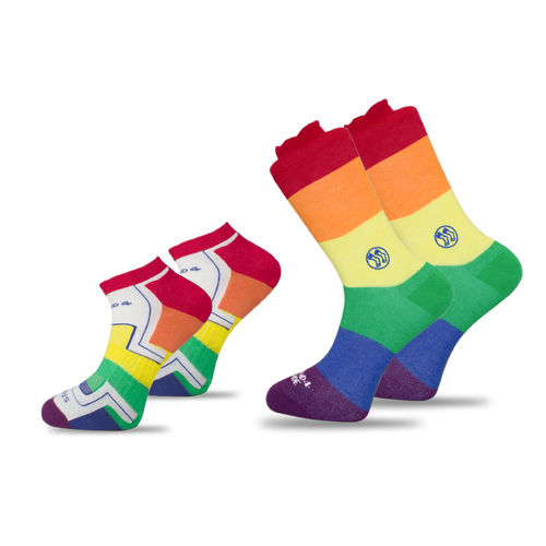 2x Pack Bundle - LGBTQ - Homeless Calf & Ankle Bamboo Sock and
