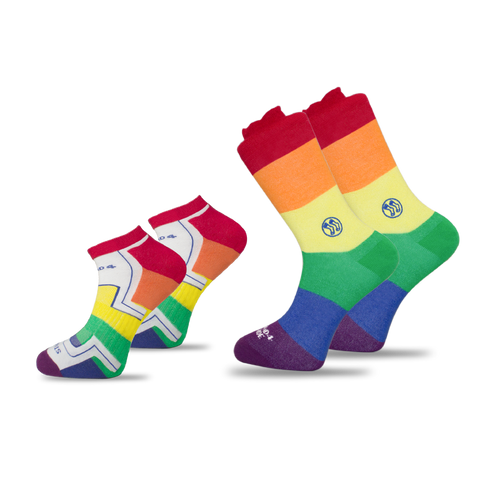 4x Pack Bundle - LGBT - Homeless Calf & Ankle Bamboo Sock