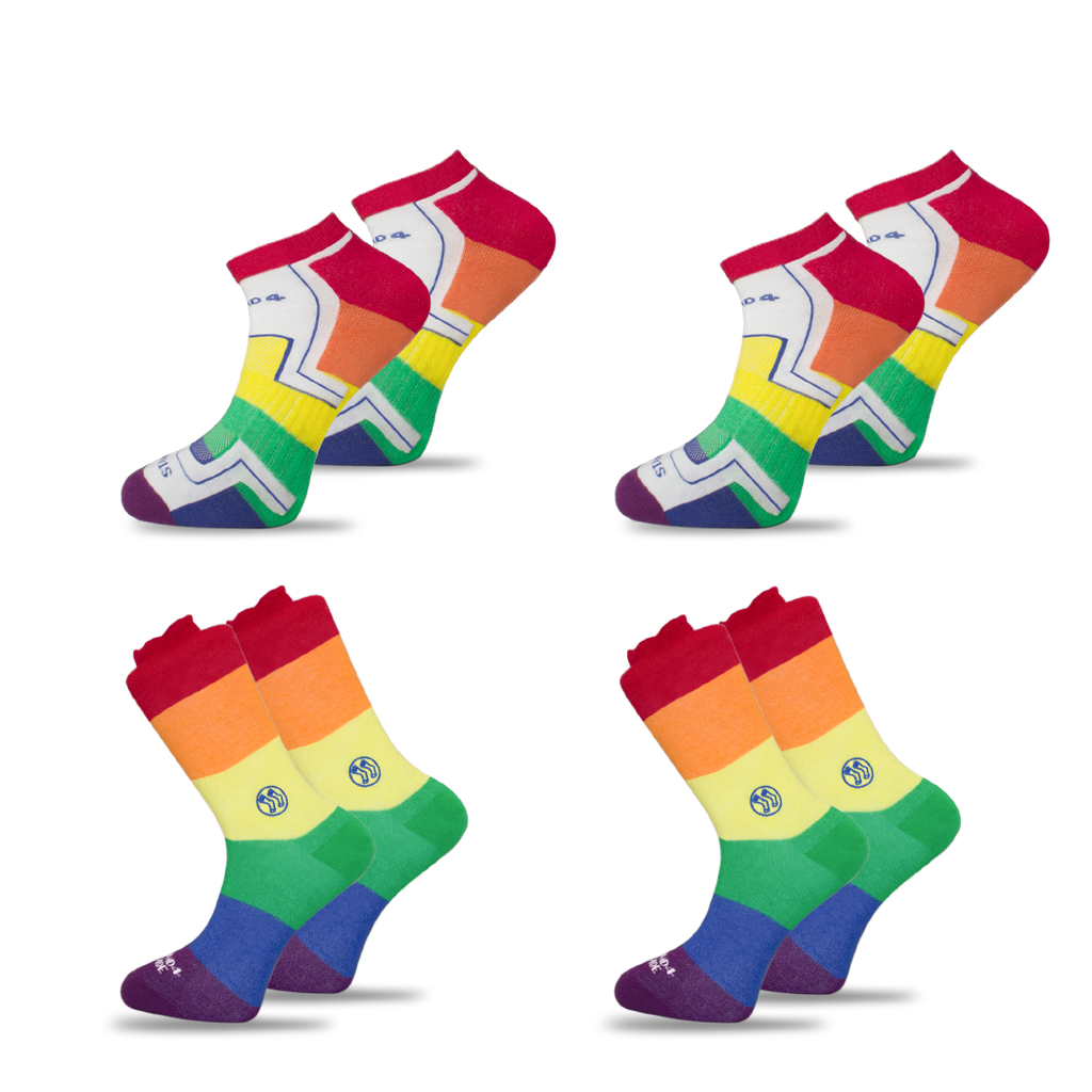 4x Pack Bundle - LGBTQ - Homeless Calf & Ankle Bamboo Sock