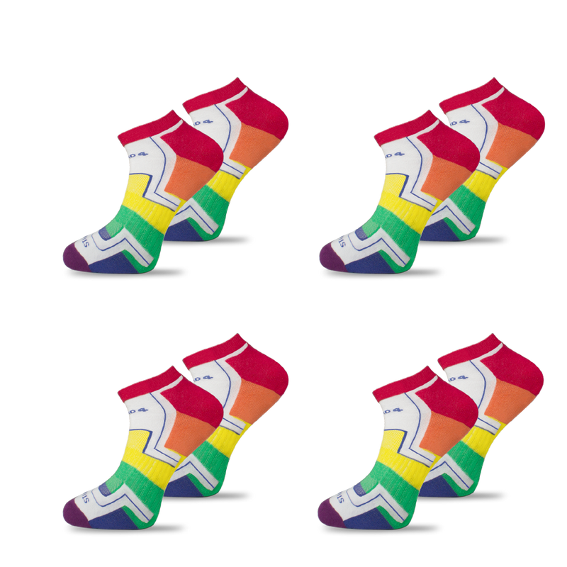 4x Pack Bundle - LGBTQ - Homeless Sport Ankle Sock