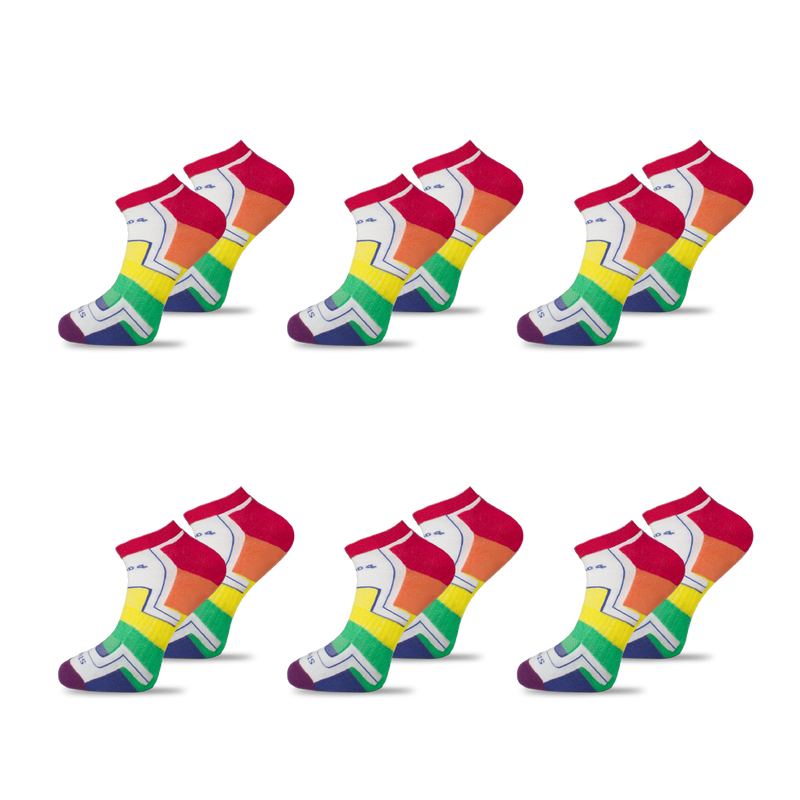 6x - LGBTQ - Homeless Sport Ankle Sock