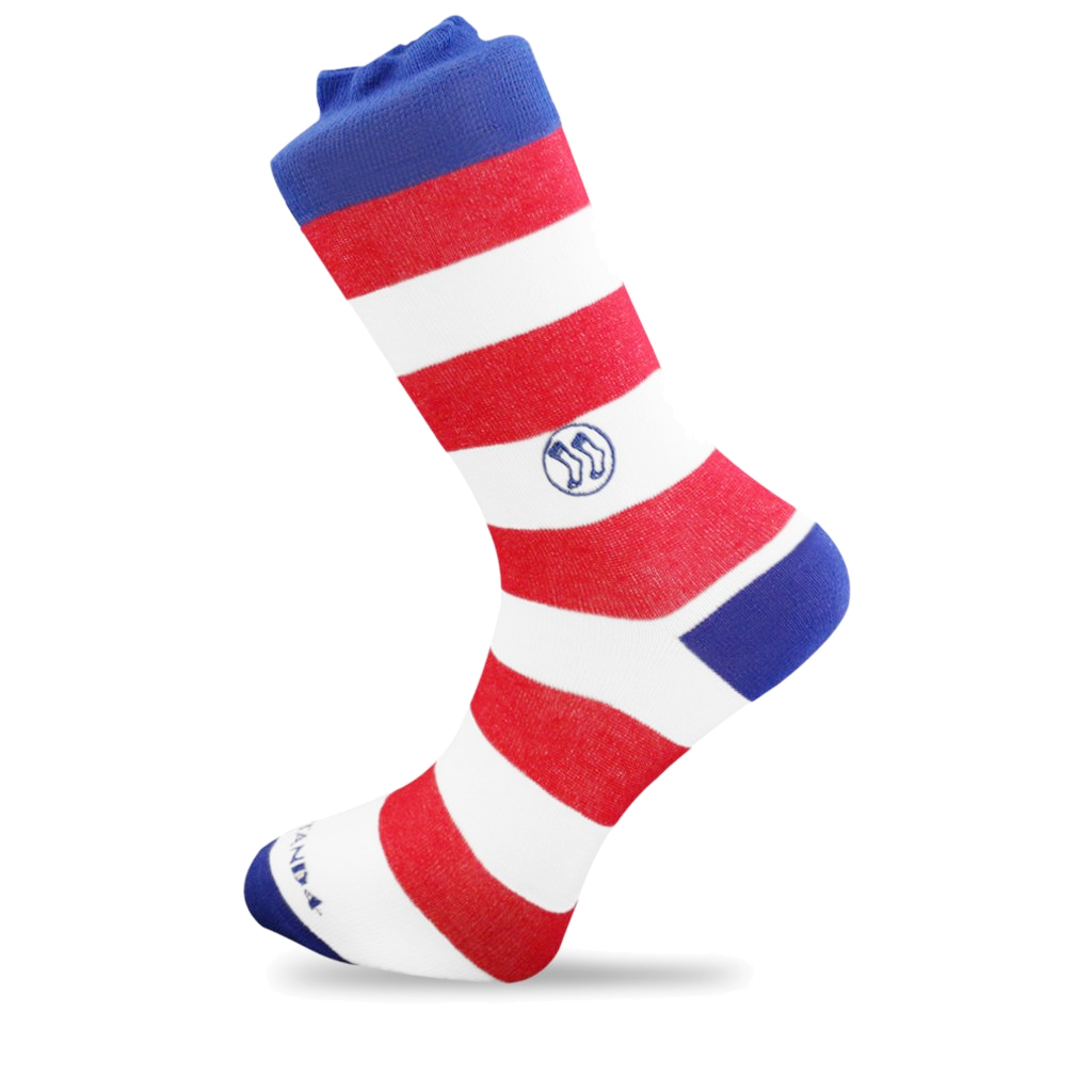 Classic Red & White Stripe Sock - Bamboo (wholesale)