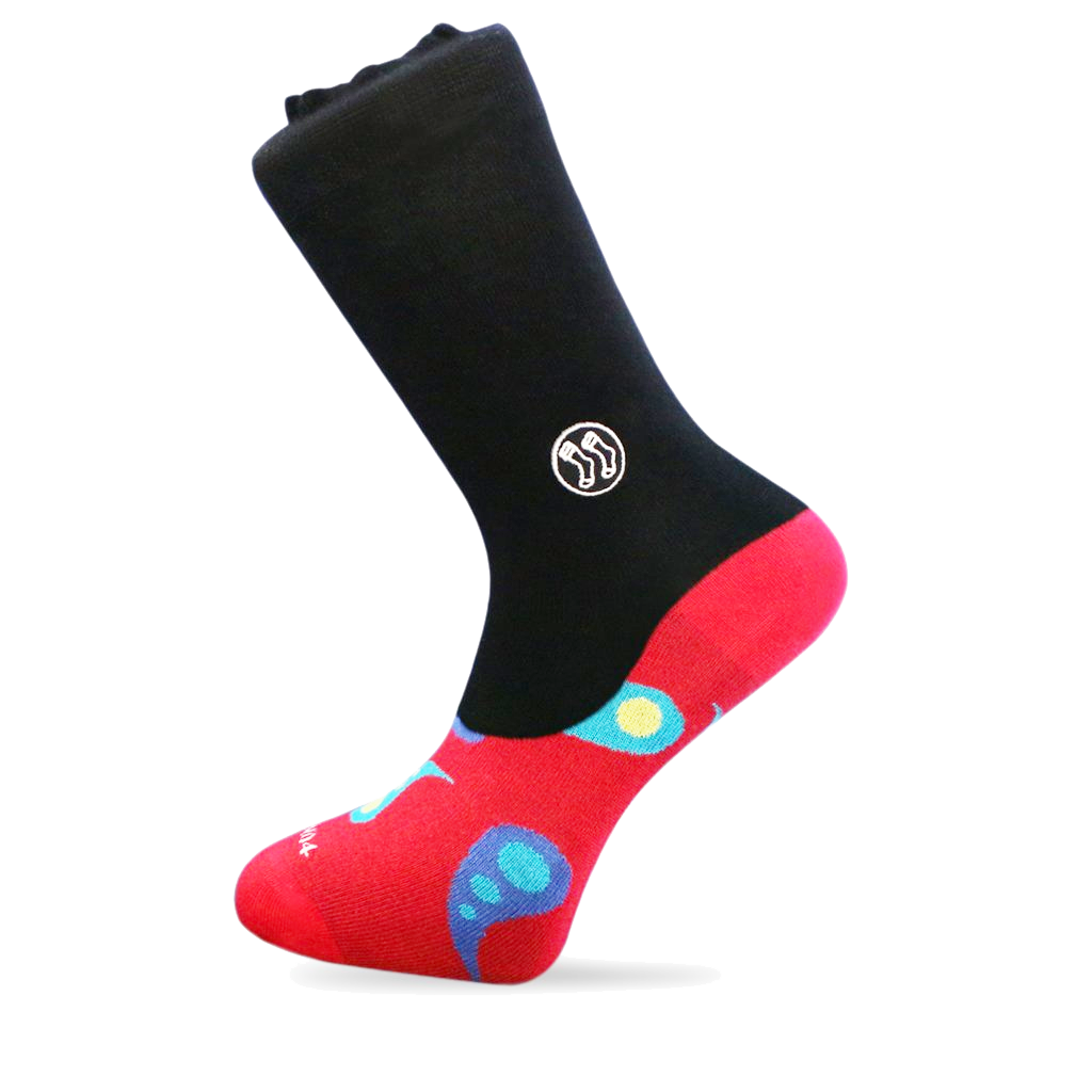 Paisley Red Office Combo Sock (wholesale)
