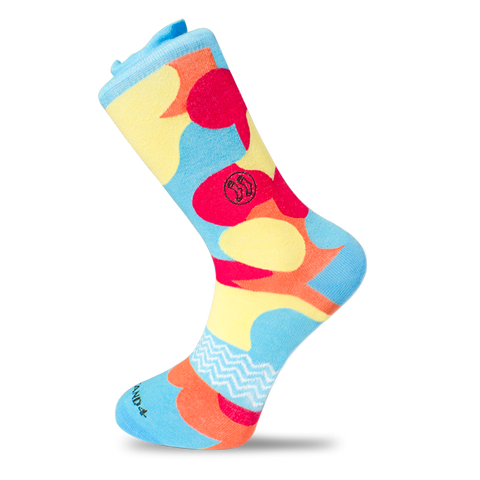 Bold Stripe Twisted Cotton Sock