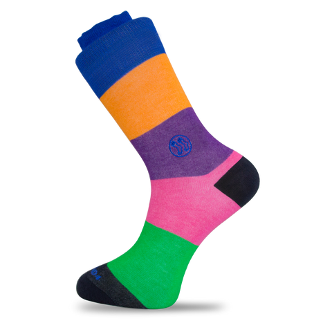- LGBT - Stripe Combo No Show Office Bamboo Sock