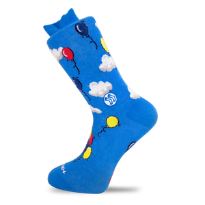 Cloud & Balloon Sock - Combed Cotton