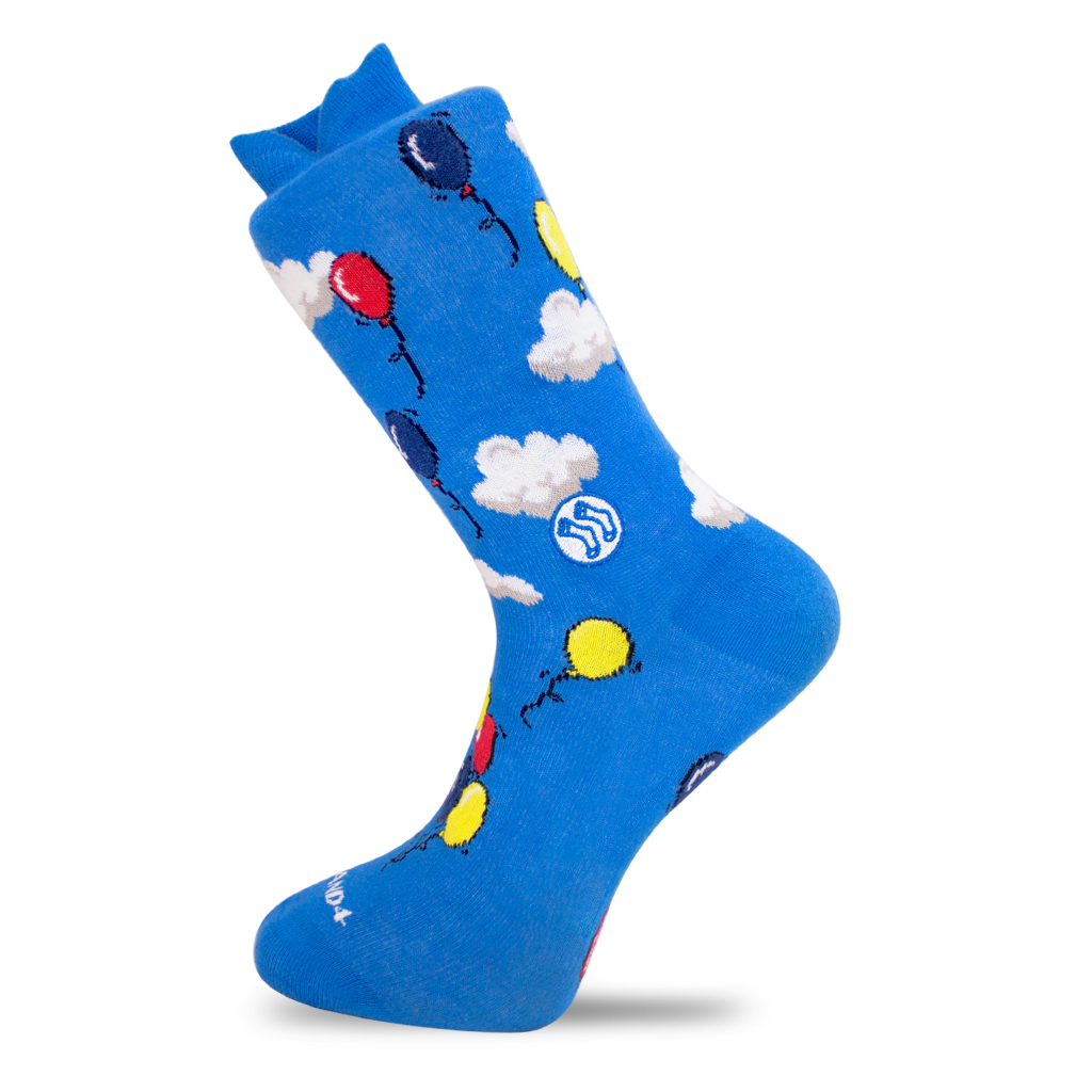 Cloud & Balloon Sock - Combed Cotton (wholesale)