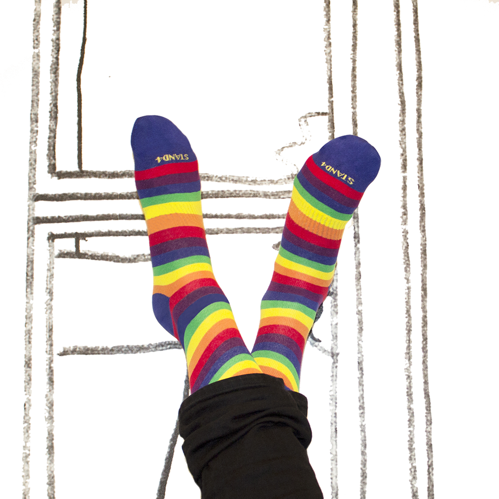 LGBT Pride Thin Stripe Socks - Combed Cotton (wholesale)