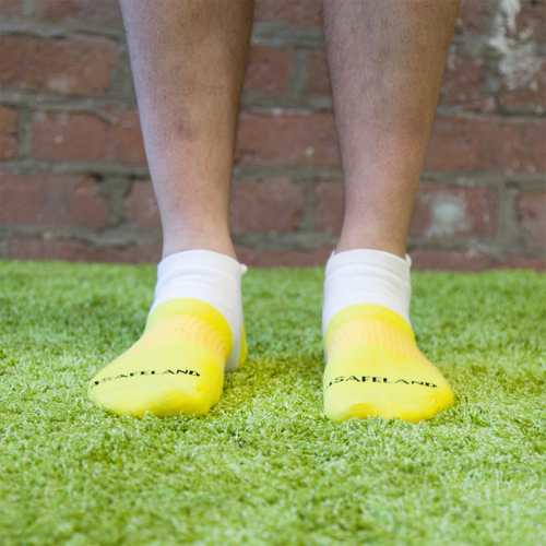 Copy of Men's Yellow Ankle Landmine Sock