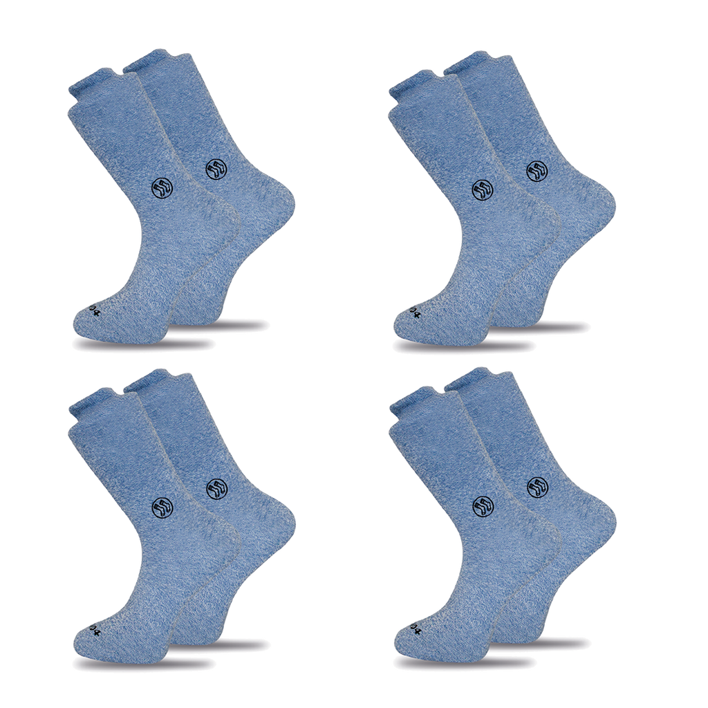 4x Pack Homeless Blue Twisted Cotton Sock