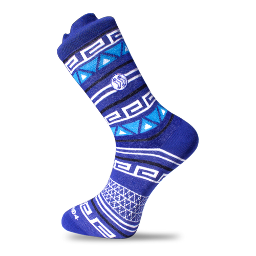 Homeless Aztec double Blue Cotton Sock