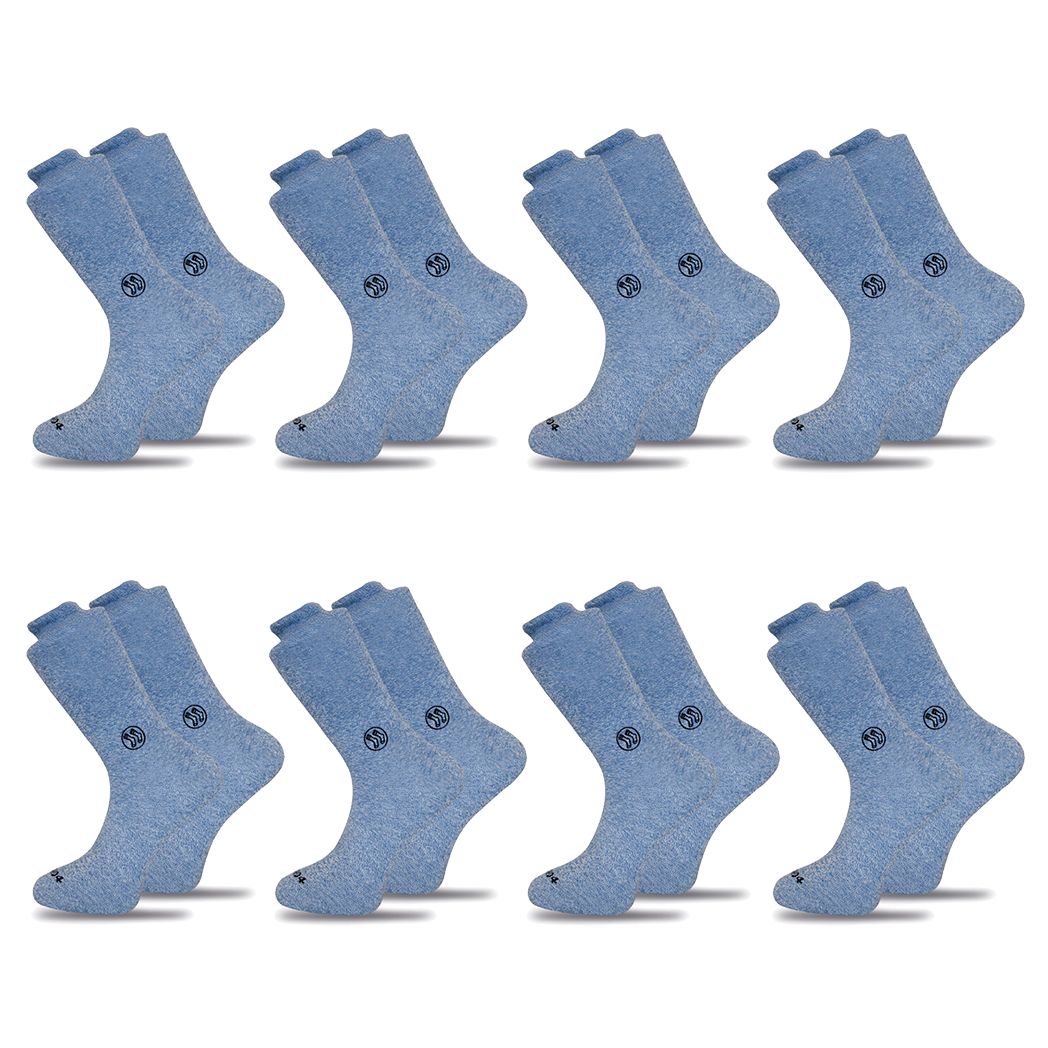 8x Pack Homeless Blue Twisted Cotton Sock