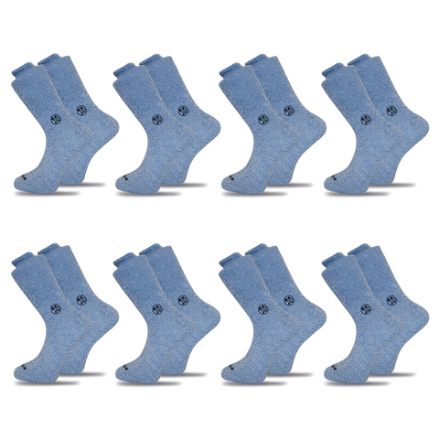 4x Functional Navy Twisted Cotton Ankle Sock