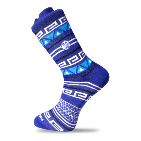 Ocean Paisley Blue Cotton Sock